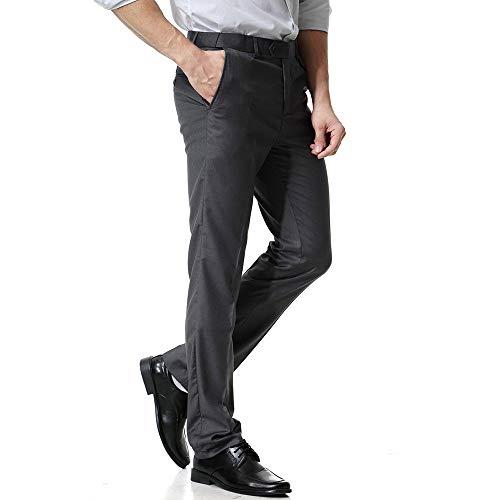 Oscuro Hombres Los es Casual Business Gris Casual Work De Guardapolvos De Pocket Bolsillo ALIKEEY Casual Pantalón ZqwW5U415