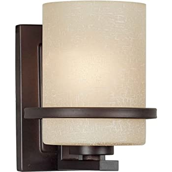 Forte Lighting 2404-01-32 1-Light Transitional Wall Sconce Antique Bronze  sc 1 st  Amazon.com & Amazon.com: Forte Lighting 2404-01-32 1-Light Transitional Wall ...