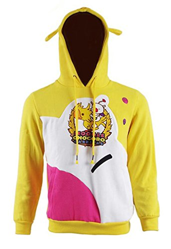 Dahee Unisex Yellow Cosplay Costume Cute Hat Carnival Pullover Hooded Hoodie Sweatshirt T-Shirt (XL, Hoodie) ()