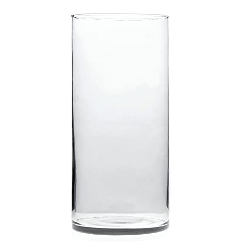 Glass Vase Cylinder Shape – 6 Dia x 14 1 2 H