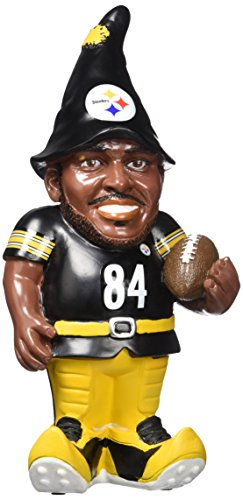 """NFL Pittsburgh Steelers Antonio Brown #84 Resin Player Gnome, 8"""", Team Color at Steeler Mania"""