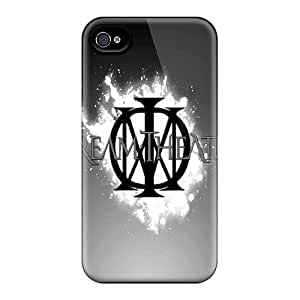 Shock-Absorbing Cell-phone Hard Covers For Apple Iphone 4/4s With Support Your Personal Customized Vivid Dream Theater Image IanJoeyPatricia