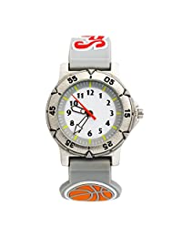 MACOON 3D Basketball Football Wrist Watches for Children Boy Graduation Enter School Gift Waterproof (Basketball)