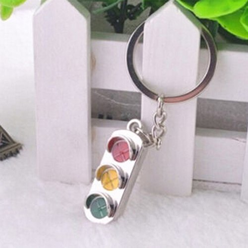 HARDWARE FOR YOU LTD 1 TRAFFIC LIGHT KEYRING KEYCHAIN SILVER FINISH Supplied by HARDWARE FOR YOU LTD