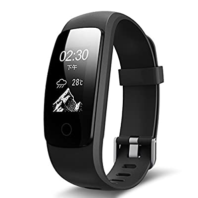 Sizet Fitness Tracker,GPS Smart Band Heart Rate Monitor Smart Fitness Health Smart Watch Wristband Bluetooth Pedomete Remote Take Photo for Android and iOS Smart Phones