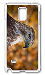 Adorable hawk head Hard Case Protective Shell Cell Phone Samsung Galxy S4 I9500/I9502 - PC Transparent