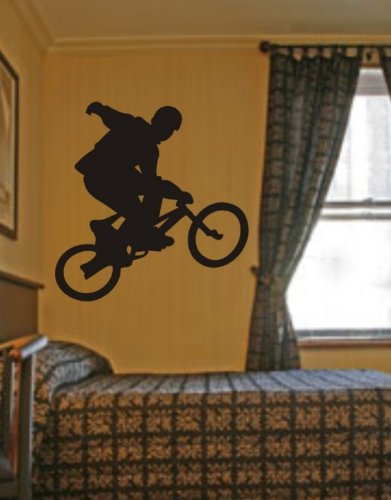 BMX Rider Decal Sticker Bike Bicycle X Games Racing Boy T...