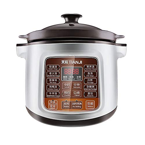 Tianji Electric Stew Pot DGD40-40LD Slow Cooker, Ceramic Stew Inner Pot for Gas, 4 - Slow Stew