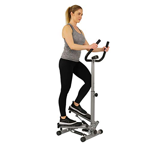 Sunny Health & Fitness Twist Stepper Step Machine w/Handle Bar and LCD Monitor - NO. - Machines Cardio