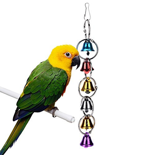 LWestine Birds Hanging Bell Toy, Chain Big Ringer Bell Pa...