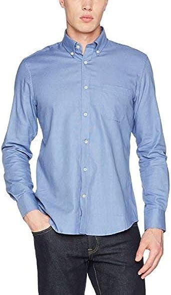 Cortefiel C3BCC Liso Coderas TBD Camisa casual, Hombre, Azul (Blue) (Tamaño del fabricante:L): Amazon.es: Ropa y accesorios