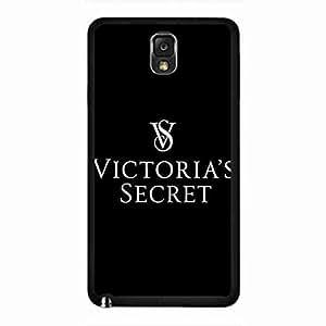 Plastic Black Cover, Victoras Secret Brand Samsung Galaxy Note 3 Funda, Unique Style Victoras Secret Brand Phone Funda