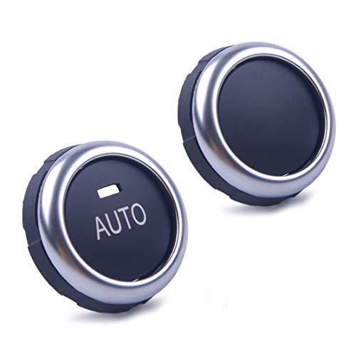 (beler 2pcs A/C Auto Rotation Knob Button Rotary Actuator Fit For BMW 5 6 7 X5 X6 F10 F07 F11 F01 F15 F16)