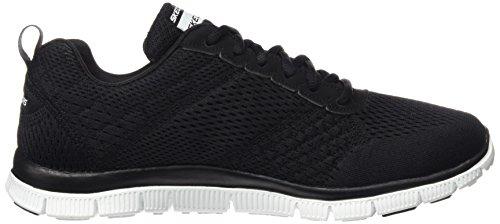 Skechers Flex Appeal-Obvious Choice, Zapatillas de Deporte Para Mujer Negro (BKW)