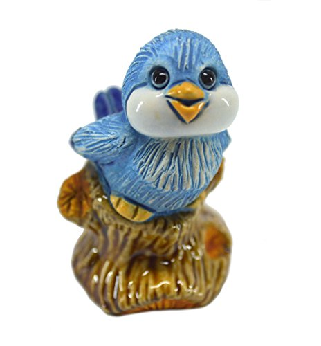 Rinconada 2017 Collection, small Blue BIRD tweeting, 2.2¨H, #AR802A