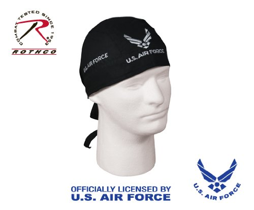 US Air Force Black Head Wrap Do-rag