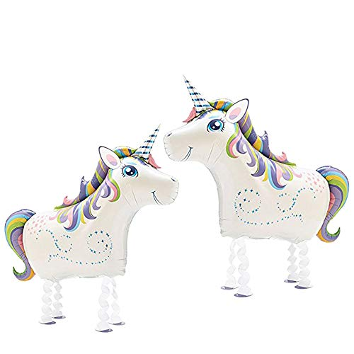 Walking Animal Balloons 2 PCS Magical Unicorn Balloon Air Walkers, Kids Animal Theme Birthday Party Supplies BBQ Party Decoration by VOULOIR