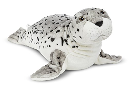 Melissa & Doug Giant Seal - Lifelike Stuffed Animal (nearly 3 feet long) -