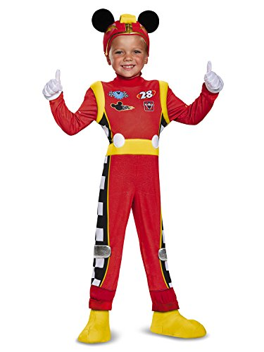 Mickey Roadster Deluxe Toddler Costume, Multicolor, Large (4-6) -