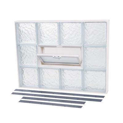 NailUp2 Vented Ice Pattern Glass Block Window