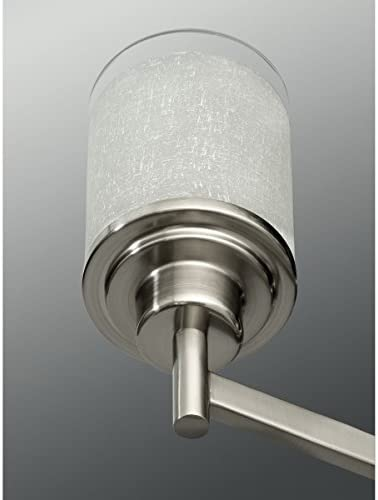 Progress Lighting P4459-09 Chandelier, 20-Inch Diameter x 19-13/16-Inch Height, Nickel