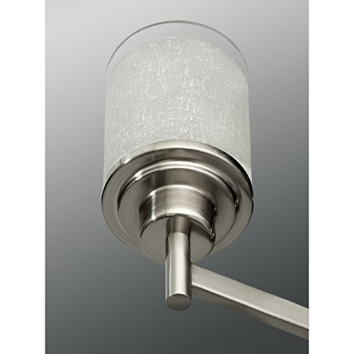 progress lighting p4459 09 5 light alexa chandelier brushed nickel