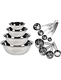 Favor Kitchen MissionTM Stainless Steel Mixing Bowls 1.5,3,4, and 5 quart. Plus Measuring Cup and Spoon Sets, Set of 6 reviews