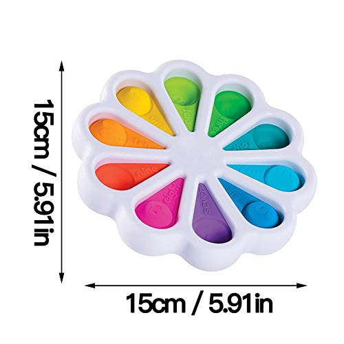 """ERTUTUYI Newest Upgraded Fidget Toy,Simple Dimple Fidget Toy Stress Relief Hand Toys for Kids,4"""" L x 4"""" W,Anxiety Relief ADHA Autism (1PC)"""