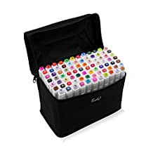 TouchFive Marker Pens Colour Art Twin Tip Point with Carrying bag for Highlighting (40)