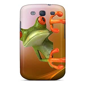 For UcYiYiM5593QapUX Frog Wallpaper Protective Case Cover Skin/galaxy S3 Case Cover by icecream design