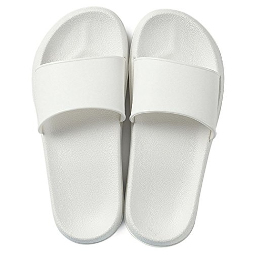 Fendou House Sandal For Women Anti-Slip Bath Slipper Indoor Floor Slipper 2018 New Style (8-9 B(M) US, (White Bath Slippers)