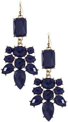 Trendy Fashion Jewelry Acrylic Framed Double Drop Dangle Earring By Fashion Destination