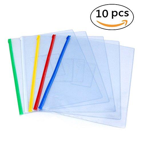 EzSos Zip Envelope, Waterproof PVC A4 File Bag, Seamless ...