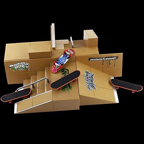 Gtlzlz 20pcs Professional Mini Metal Fingerboards/ Finger Skateboard, Unique Matte Surface Party Favors Novelty Toys for Kids Party Supplies (Random Pattern) by Gtlzlz (Image #6)