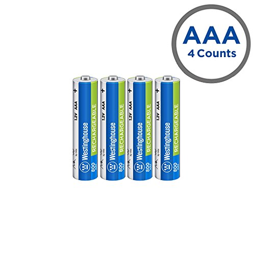 Westinghouse Pre Charged AAA Always Ready 1.2 volt 800 mAh Ni-Mh Rechargeable Battery (4 ()