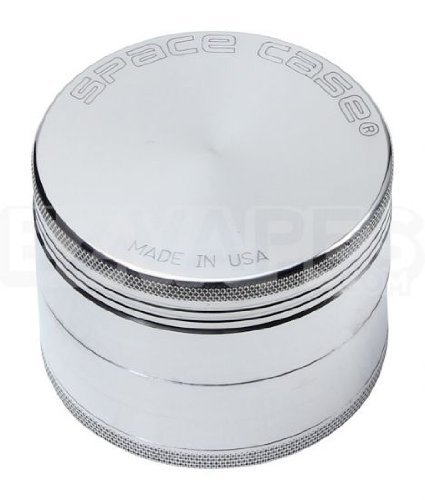 Space Case 4 Piece Aluminum Herb Grinder Large 90mm