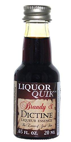 Grape Brandy - Liquor Quik Natural Brandy Essence, 20 mL (Brandy and Dictine Liqueur)
