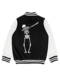GUISER Kids Gay Pride Rainbow Skull Kids Jacket for Girls Boys Cool Outerwear Coats