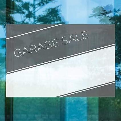 CGSignLab 18x12 Basic Black Window Cling Garage Sale 5-Pack