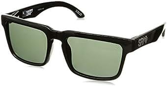 Spy Optic Helm Flat Sunglasses, Black/Happy Gray/Green, 57 mm