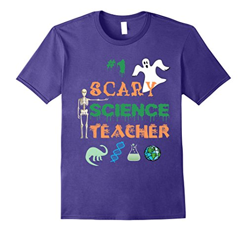 Mens Funny Halloween Ghost T-Shirt Costume for Science Teachers 2XL Purple