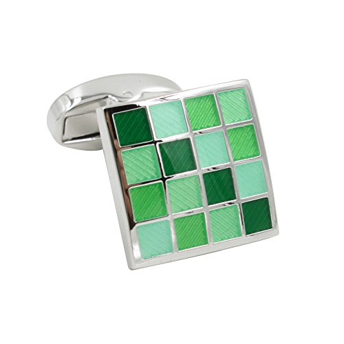 Jade Coral Green Cufflinks | 5 Yr Warranty | Gift Box Inc | 35th Anniversary Gift by AUSCUFFLINKS (Image #3)