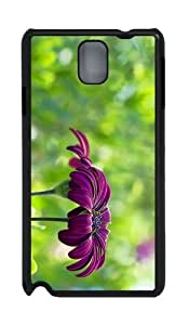 cases thin purple flower summer PC Black case/cover for Samsung Galaxy Note 3 N9000