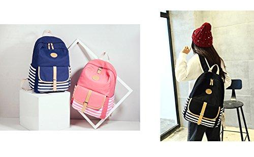 Abshoo Causal Travel Canvas Rucksack Backpacks for Girls School Bookbags (Navy) by abshoo (Image #5)