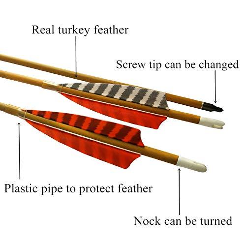 Elong 6pk 30'' Archery Carbon Arrows Wood Camo Spine 600 Recurve Bows Turkey Feather Arrow