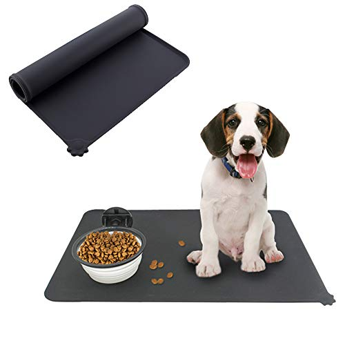 STAR-TOP Collapsible Dog Sniffs Mat, Food Grade Silicone BPA Free, Foldable Expandable Cup Dish for Pet Cat Food Water Feeding Portable Travel Bowl Free Carabiner