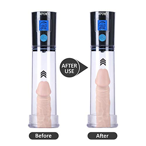 SANNUYA Hands Free Silicone Pleasure Toy Automatic Adult Men's Penísgrowth Pump Electric Vacuum, Health Vacuum Air Pump Male Pleasure Toy Relax Massage Wand