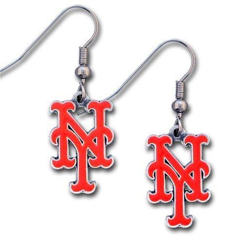 Enameled Pierced Earrings - MLB New York Mets Dangle Earrings