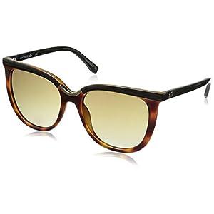 Lacoste Women's L825S Oval Sunglasses, Havana, 55 mm