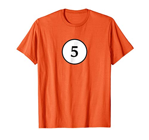 Pool Ball Halloween Costume T-shirt Groups Number 5 -